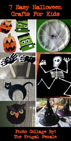 7 Easy Halloween Crafts For Kids - The Frugal Female Theme Halloween, Halloween Crafts For Kids, Halloween Activities, Holidays Halloween, Fall Crafts, Holiday Crafts, Happy Halloween, Halloween Decorations, Holiday Fun