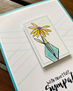 With sympathy – February 2020 – Endless Creations Rubber Stamps Loss Of Loved One, Post Today, Sympathy Cards, First Love, February, Triangle, Stamps, Paper, Seals