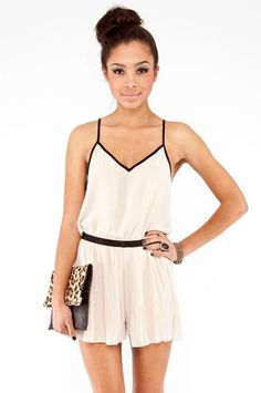 Crystal Claire romper in beige