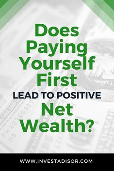 A fundamental lifelong principle in personal finance is to pay yourself first which leads to positive net worth. It helps to build up a rainy day fund. Retirement Advice, Saving For Retirement, Budgeting Finances, Budgeting Tips, Investing Money, Saving Money, Saving Tips, Rainy Day Fund, Pay Yourself First