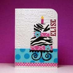 Project Ideas for Provo Craft - Cuttlebug - Embossing Folder - Happy Birthday