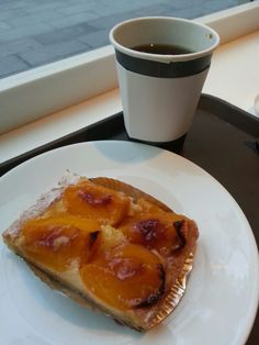 Peach tart. Just enough sweet to light the day