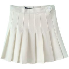 Pleated High-rise Tennis Skirt (115 RON) ❤ liked on Polyvore featuring skirts, bottoms, white, clothing - skirts, white skirt, high rise skirts, high-waist skirt, knee length pleated skirt and high waisted knee length skirt