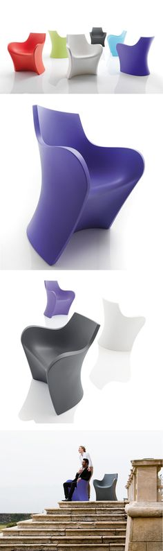 Whopi outdoor chair by B-Line - design Karim Rashid