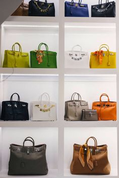 The Biggest Closet In America: Roemer's Hermes collection; Hermes Birkins in an array of colors and sizes