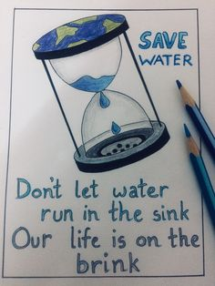 Save Earth Drawing, Drawing For Kids, Water Pollution Poster, Water Pollution Quotes, Water Conservation Slogans, Save Earth Posters, Poster On Save Water, Save Water Slogans, Save Water Poster Drawing