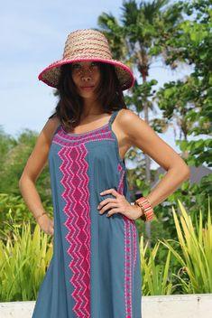 Maxi embroidered/Bohemian Maxi dress/Beach dress/Beach Ibiza Dress, Dress Beach, Beach Dresses, Boho Dress, Tie Dye Dress, Kaftan, Summer Outfits, Bohemian, Comfy