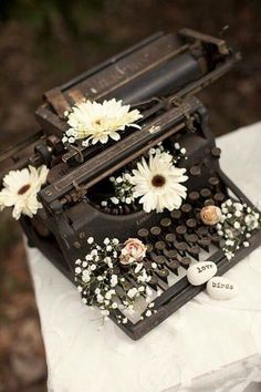 A very old typewriter