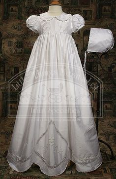 """Little Things Mean a Lot // 33"""" Dupioni Gown with Scalloped Bottom"""