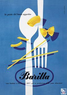 #Barilla fa la storia della comunicazione e nel 1952 si aggiudica la Palma d'Oro della Pubblicità con la nuova campagna ideata da Erberto Carboni.