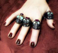 Fantastic four skull rings - Dogale Jewellery Venezia Italia