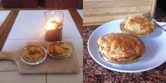 homemade South African style chicken and mushroom pies. Caribbean Food, Caribbean Recipes, Chicken And Mushroom Pie, African Style, Homemade Food, Tarts, Stuffed Mushrooms, Muffin, Bread