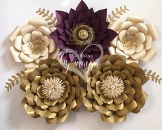 READY TO SHIP 7 piece paper flower / home decor / holiday