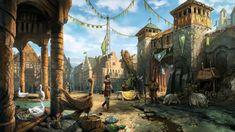 The Lair Fantasy city Fantasy landscape Buildings artwork