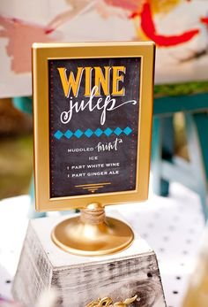 I would use the white ikea frame with a chalkboard-like insert on which i'd use bright colors and fun typography