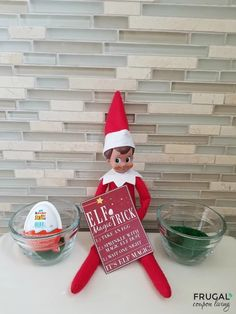 Kinder Joy Magic Egg Printable 2 in 1 Elf on the Shelf – two nights in one idea. Kinder Joy Magic Egg for your Elf on the Shelf. From a chicken egg to a chocolate egg. This easy idea comes with a free printable.