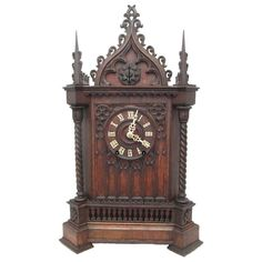Gothic Cathedral Bracket Cuckoo Clock | From a unique collection of antique and modern clocks at http://www.1stdibs.com/furniture/more-furniture-collectibles/clocks/
