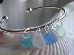 Seaglass Cuff Bracelet by Seyshelles