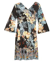 Plus Size Belted Faux Wrap Dress -- Quickly view this special  product, click the image : Trendy plus size clothing