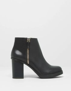 :BOTTINES À TALON ZIPPÉES