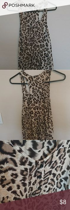 Leopard tank Leopard tank with button details. Perfect condition, only worn a few times. Iris Tops Tank Tops