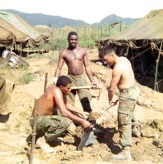 1st day building our bunker - 1968 - Vietnam War