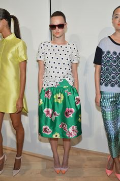 J. Crew spring 2013. In love with that floral appliqué shirt. I could totally make that for a LOT less than $200. I love the skirt too.