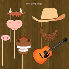 Barn Printable Photo Props Barnyard Farm by SplashboxPrintables, $4.00