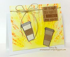 "http://artemanual-scrap.blogspot.com/2015/06/cafe-fuerte-summer-coffee-lovers-blog.html. Latina Crafter Set 2x2 (Stamp) ""Café Fuerte"" Latina Crafter Set 3x4 Adicta a la Cafeína"