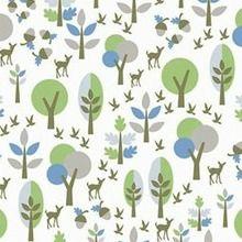 Copenhagen - Bambi Forest (Green) Fabric