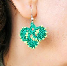PDF Tutorial Crochet Pattern...Beaded Crochet Flower Dangle Earrings #design #wedding