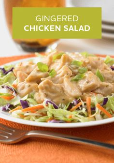 Gingered Chicken Salad -- Only 5 ingredients and 10 minutes to prepare!