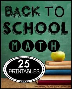 Back to SchoolMath Worksheets