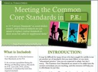 """Align your P.E. curriculum to the Common Core Standards-This resource includes 20 lessons to meet each of the 20 Common Core Standards required for P.E. (P.E. is part of the """"Technical Subjects"""" and it has 10 writing for literacy and 10 reading for literacy in P.E. standards.) common core standards, writing in physical education, physic educ"""