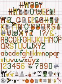 This Halloween Alphabet cross stitch pattern packs graphic letters and 27 separate images into one easy-to-stitch package as fun as Halloween itself. Cross Stitch Letters, Mini Cross Stitch, Happy Halloween, Halloween Ii, Cross Stitching, Cross Stitch Embroidery, Cross Stitch Designs, Stitch Patterns, Halloween Cross Stitches