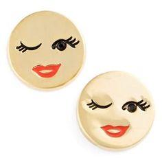 'tell all' emoji stud earrings - Cerca con Google