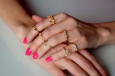 Shine-sormussetti Delicate, Bracelets, Rings, Jewelry, Fashion, Moda, Jewlery, Jewerly, Fashion Styles