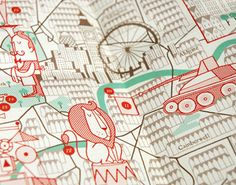 Check out these beautifully illustrated maps by Herb Lester Associates Ltd. You can pick up maps for several cities in their shop.