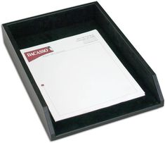 Leather Front-Load Legal-Size Tray A1005 by Decasso