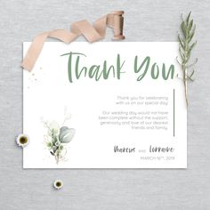 Printable Thank You Cards, Thank You Card Template, Stationery Design, Wedding Stationery, Wedding Invitations, Watercolor Design, Little Boxes, Our Wedding Day, Printing Services