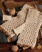 Lace Mitts from Knitting Daily