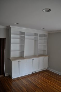 back wall idea - Living Spaces traditional family room