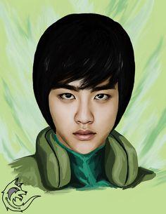 EXO Kyungsoo as Rock Lee by Edisonlee18
