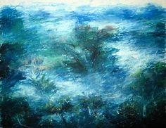 oil pastel landscape - Google Search