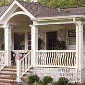 Small Front Porch Designs | Front Porch Railings: From Wood Deck Railings to Aluminum Porch ...