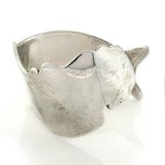 B.Kieselstein-Cord Vintage 1970's Sterling Silver Mermaid Cuff Bracelet