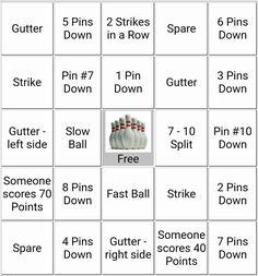 Bowling party bingo