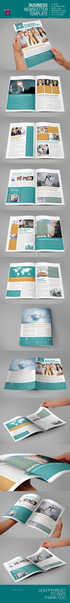 Business Newsletter (8 pages) Print templates, Newsletter - business newsletter