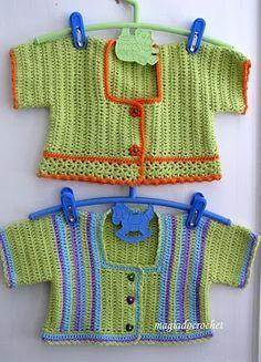 Magia do Crochet: Casaquinhos e botas em crochet...colorindo os bebés