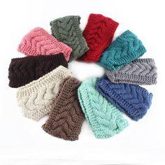 Femmes Turban Crochet Tricoté Headwrap Bandeau D'hiver Oreille Warmer Bande De Cheveux